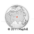 """Outline Map of the Area around 42° 35' 40"""" N, 74° 1' 30"""" E, rectangular outline"""