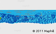 """Political Panoramic Map of the area around 42°35'40""""N,74°1'30""""E"""