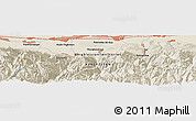 """Shaded Relief Panoramic Map of the area around 42°35'40""""N,74°1'30""""E"""