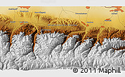 """Physical 3D Map of the area around 42°35'40""""N,74°52'30""""E"""