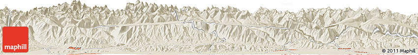 Shaded Relief Horizon Map of Orto-Say