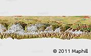Satellite Panoramic Map of Orto-Say