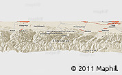Shaded Relief Panoramic Map of Këk-Dzhar