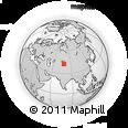 Outline Map of Tyup, rectangular outline