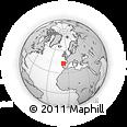 Outline Map of Chantada, rectangular outline