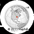 Outline Map of Birmingham, rectangular outline