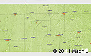 """Physical 3D Map of the area around 42°35'40""""N,93°25'30""""W"""