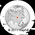 Outline Map of Hongliuquan, rectangular outline