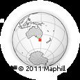 Outline Map of Melton Mowbray, rectangular outline
