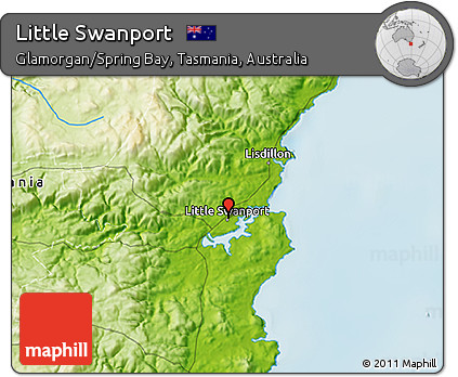 Physical 3D Map of Little Swanport