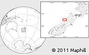 Blank Location Map of Greymouth