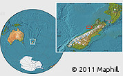 Satellite Location Map of Greymouth