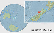 Savanna Style Location Map of Greymouth, hill shading