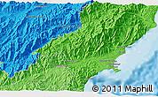 Political 3D Map of Kaikoura