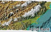 Satellite 3D Map of Kaikoura