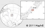 Blank Location Map of Kaikoura