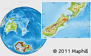 Physical Location Map of Kaikoura