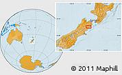 Political Location Map of Kaikoura