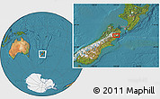 Satellite Location Map of Kaikoura