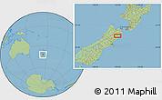 Savanna Style Location Map of Kaikoura