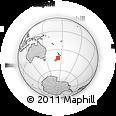 Outline Map of Kaikoura, rectangular outline