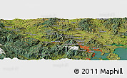 "Satellite Panoramic Map of the area around 42° 44' 20"" S, 147° 7' 30"" E"