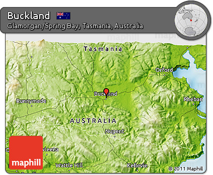 Physical 3D Map of Buckland