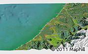 Satellite 3D Map of Hokitika