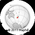 Outline Map of Hokitika, rectangular outline
