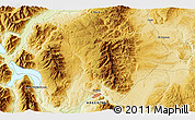 """Physical 3D Map of the area around 42°44'20""""S,71°19'29""""W"""