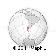 Outline Map of Esquel, rectangular outline