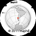 Outline Map of Chiloé Island, rectangular outline