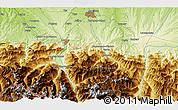 Physical 3D Map of Pontacq