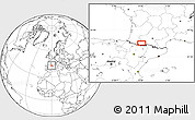 """Blank Location Map of the area around 43°1'43""""N,0°4'30""""E"""