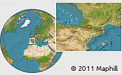 """Satellite Location Map of the area around 43°1'43""""N,0°4'30""""E"""