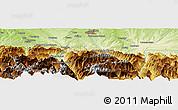 Physical Panoramic Map of Pierrefitte-Nestalas