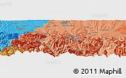 Political Panoramic Map of Pierrefitte-Nestalas