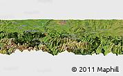 Satellite Panoramic Map of Pierrefitte-Nestalas