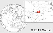 """Blank Location Map of the area around 43°1'43""""N,0°55'29""""E"""