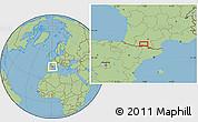 "Savanna Style Location Map of the area around 43°1'43""N,0°55'29""E"