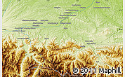 Physical Map of Aurignac