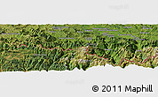 Satellite Panoramic Map of Bustince-Iriberry