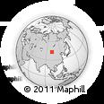 Outline Map of Obooto Hural, rectangular outline