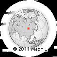 Outline Map of Mongolian Plateau, rectangular outline