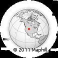 Outline Map of Riverton, rectangular outline