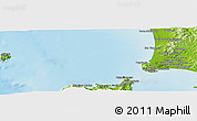 """Physical Panoramic Map of the area around 43°1'43""""N,10°16'30""""E"""