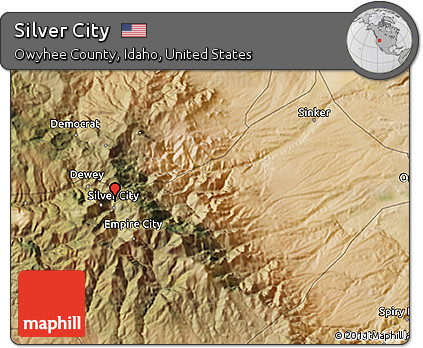 silver city idaho map Free Satellite 3d Map Of Silver City silver city idaho map