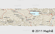 Shaded Relief Panoramic Map of Perugia