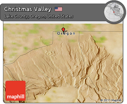 Free Satellite 3d Map Of Christmas Valley