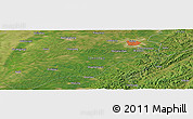 Satellite Panoramic Map of Siping